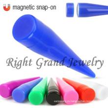 Пользовательские неоновые цвета не пирсинг магнитный поддельные конусом