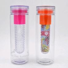 25 oz bouteille d'eau infuseur de fruits Tritan, bouteille d'eau plastique BPA, bouteille d'eau tritan