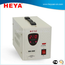 2kva LED display relay type full automatic AC current voltage regulator 220v