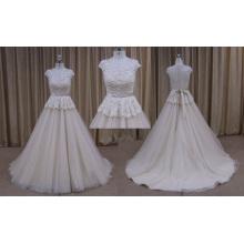 Высокое Качество Кружева Аппликация Шифон Свадебное Платье 2016 Новый Дизайн
