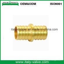 Customized Quality Brass Mpt Adpt Solder Coupling / Nipple (AV9032)