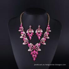 2016 Fashion Design Purple Grace Sharp collar conjunto