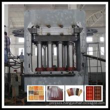 Melamine molded door skin hot press machine
