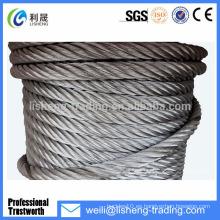 19 * 7 Alambre de acero inoxidable trenzado galvanizado de alta tensión