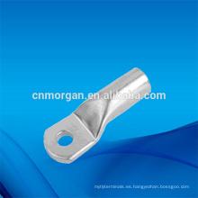 Las terminales del anillo de las terminales del cable de la encrespadura del cobre del solo agujero con los ojetes