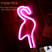 Pink Flamingo Neon Sculpture Light Sign Wall Art