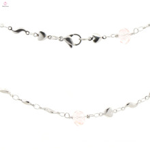 New model ladies stainless steel silver charms necklace chain wholesale