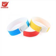 Bracelets promotionnels jetables de papier de DuPont de couleur différente jetable