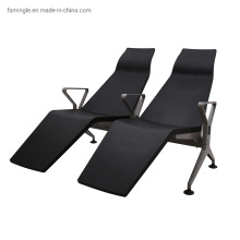 High Back Airport Bench Seating with Footrest