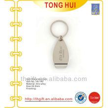 Custom engraved logo bottle opener keychains metal