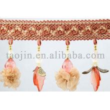 Schöne dekorative Sonnenschirm Perlen Fransen