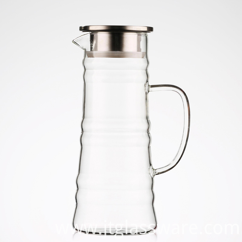 Borosilicate Glass Beverage Pitcher