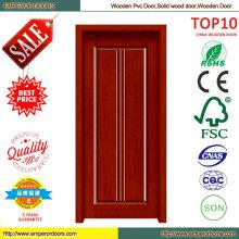 Лучшая цена простой конструкции ПВХ деревянные двери