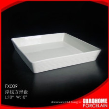 Eurohome company new design wholesale square dinner banking plate