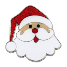 Colección Metal Christmas Santa Brooch With Glitter