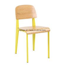 Chaise de loisirs de fer tabouret chaise en bois