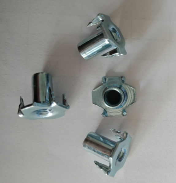 Stainless steel stampings zinc plated T-nuts