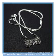 Le plus récent collier pendentif en argent sterling 925 collier bowknot collier 850068