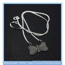 Atacado mais recente 925 prata bowknot doce cadeia colar de pingente 850068