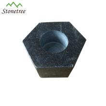 Granite Stone Candle Holders