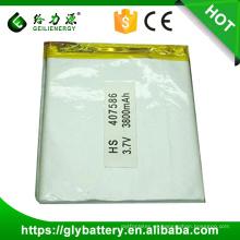 407586 batería recargable del polímero del li del li del paquete de batería del polímero 3.7v 3800mah