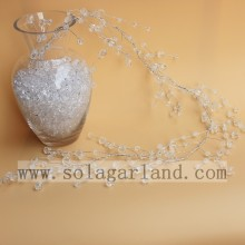Acrylic Clear And White Bead Garland Tree Branch