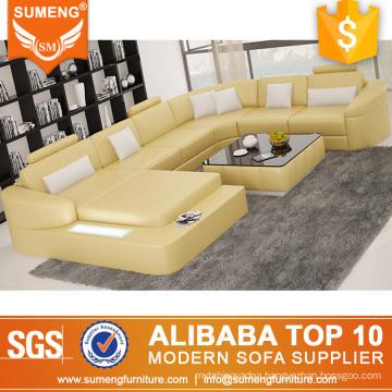 2015 Classic LED yellow goodlife sofa cum bed, price of sofa cum bed
