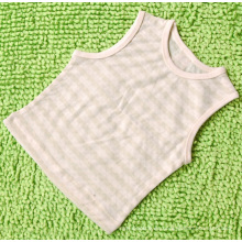 Cómodo 100% algodón orgánico chaleco de algodón