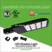 Luz diferente do parque de estacionamento do UL do anjo DLC do feixe, luzes de Pólo do diodo emissor de luz da área, substituição da luz do diodo emissor de luz de 130lm / w 300w 1000w