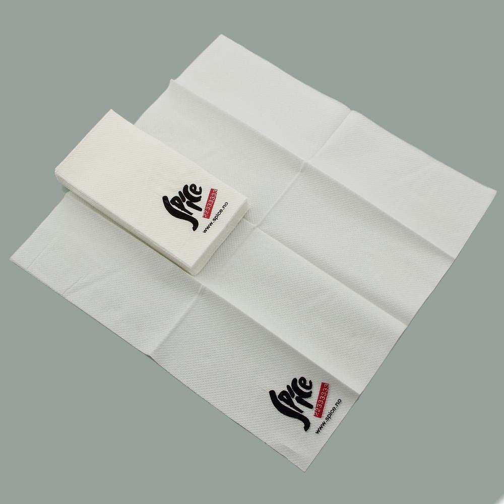 Eco-friendly folding napkins in the packaging bag