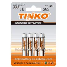 1,5 v tamaño aaa batería del cinc del carbón R03P con precio bajo y buena calidad