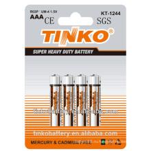 Размер 1.5V aaa Батарея цинка R03P углерода с низкой ценой и хорошим качеством