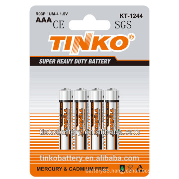 1.5v aaa R03P carbon zinc battery low price