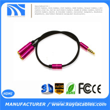 3.5mm 1 to 2 Dual Earphone Headphone Jack Y Splitter Cable Adapter HOT!!