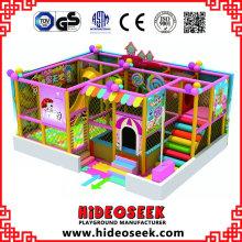 Kleine billige Indoor-Spielplatzgeräte mit Ball Pit