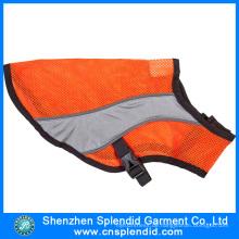 Heißer Verkaufs-reflektierendes Sicherheits-Produkt Fluo orange Haustier-Kleidung