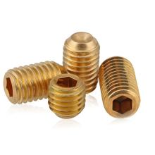 Factory sale DIN914 titanium hexagon socket set screws