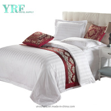 White Striped 250 Thread Count Hotel Bedding for Dorm Room