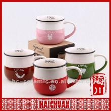 Keramik-Emaille-Becher, Zakka-Tasse, Becher Zakka