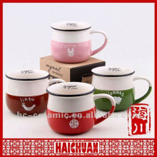 Ceramic enamel mug, zakka cup, mug zakka
