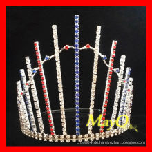 Großhandelsrhinestone patriotische Festzug Tiara