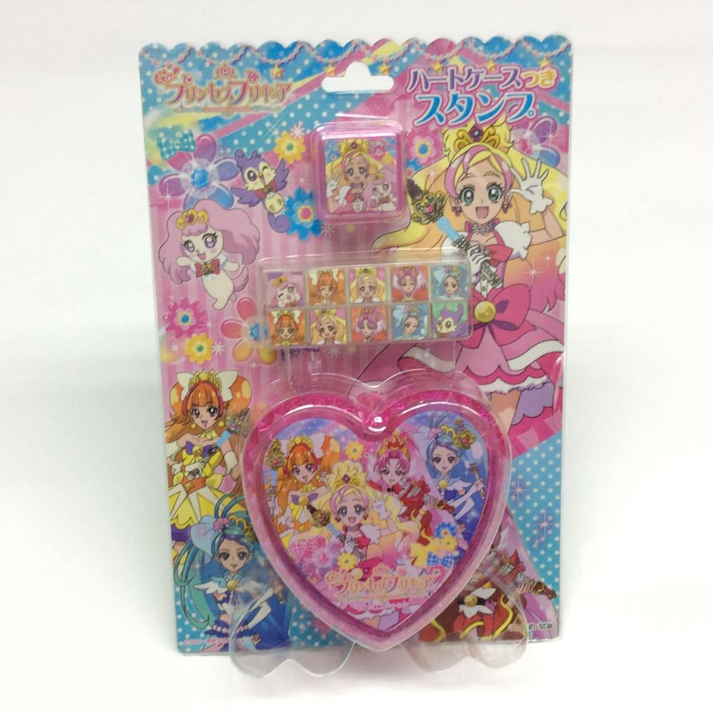 heart-shaped cartoon portable stamp set