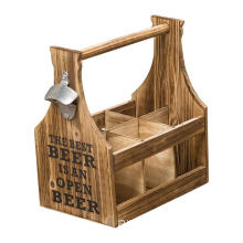 BEST 6 Compartments Bottles beer Caddy with Opener