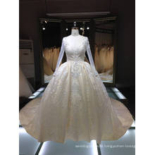 Th-x7814 Vestidos Rena Ivory Royal Bridal Gown Classic Robe Heavily Beaded Wedding Dress