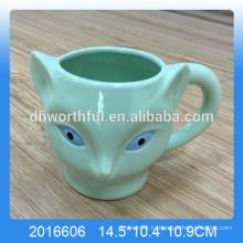 Зеленая доломитовая лиса кружка, керамическая чашка лисы оптом