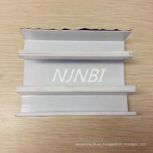 Parte de extrusión de aleación de aluminio pintado blanco y disipador de calor