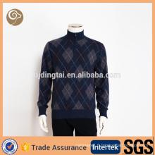 Col montant tricot chandail de laine hommes