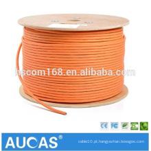 Orange cat7 Cabo de rede SFTP 10 Gigabit com cat7 rj45 plug e cat 7 rj45 connector