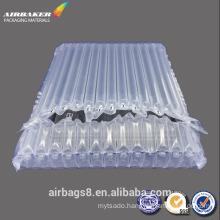Inflatable plastic laptop air column cushion bag package