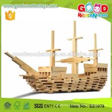300pcs Learning Center Classic Toy Brincos de construção de madeira